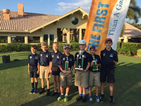 Mason Academy won the Silver Division title at The First Tee of Naples/Collier Elementary School Championships on Saturday, Nov. 19, 2016, at Quail Village Golf Club.