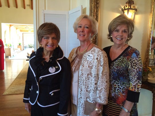 At the Knoxville Symphony League's luncheon are Rose Moseley, Rhonda Webster and Gail Smith.