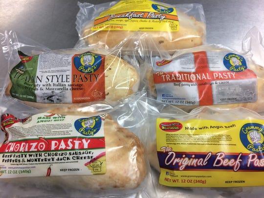 Grammy's Pasty's come in five varieties: chorizo, original,