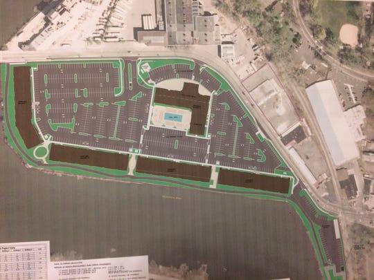 Plans for the River Club development in Bogota.