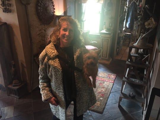 Gae Orsini at her home in Mendon
