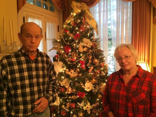 Ellen and Harry Suber inside their Salisbury home,