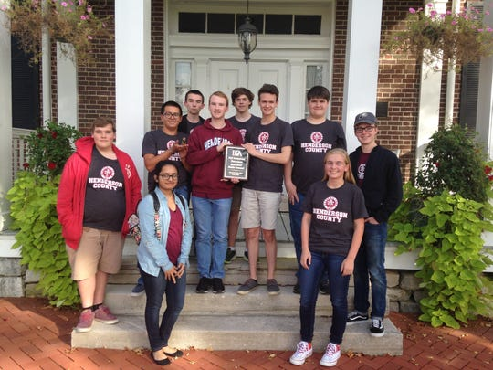 Henderson County's Quick Recall Team pictured, front row from left: Gopika Gopan and Riley Lovell. Second row: DJ Banks and Cole Privette. Third row: Zachary Beickman, Isaac Oettle, Will Hardy and Austin Meredith. Back row: Harrison Jenkins and Alex Chandler.