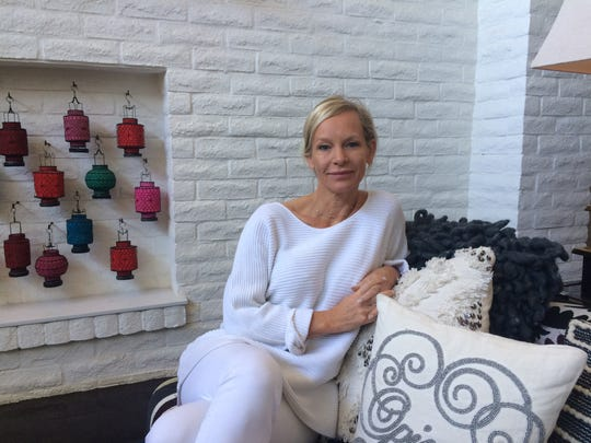 Heidi Gosman, creative director with Heidi Klein, poses for a photo inside the lobby at Parker Palm Springs.