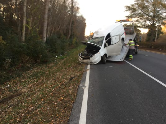 Van into tree 112616