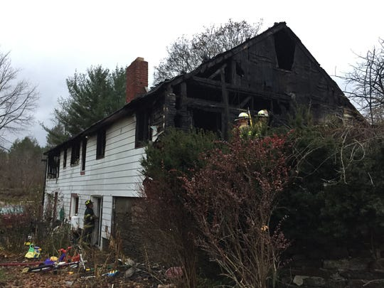 A fire heavily damaged a home on Route 11 in Whitney Point early Tuesday, Nov. 29, 2016.