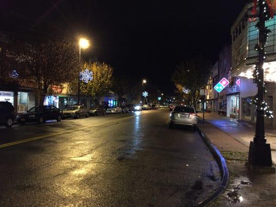 Fourteen snowflake lights now line Washington Avenue