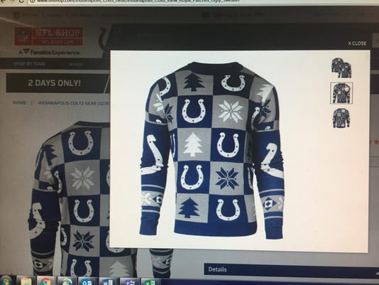 40d4317776f Colts, Pacers offer ugly Christmas sweaters (and they are ug-lee)
