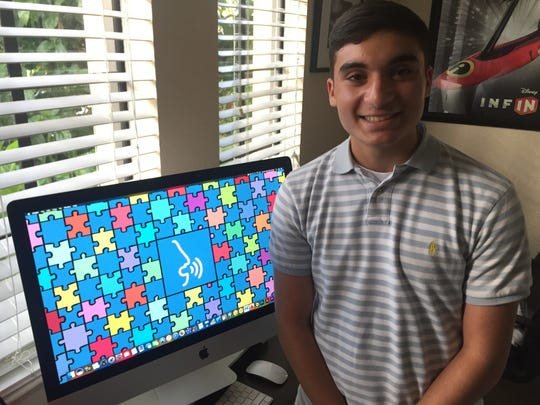 """John Ciocca, 16, came up with the idea to start a local """"Fantastic Friends"""" chapter. He also has created and is selling an App that helps non-verbal people communicate with others in a type-to-talk format."""