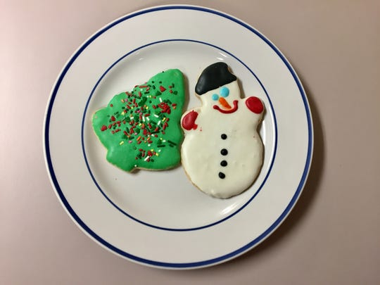 Sugar cookies from Bread Garden Market on Dec. 1, 2016.