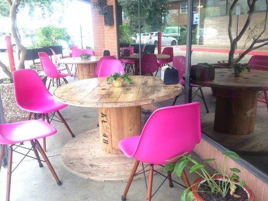 Outdoor seating at Ki' Mexico.