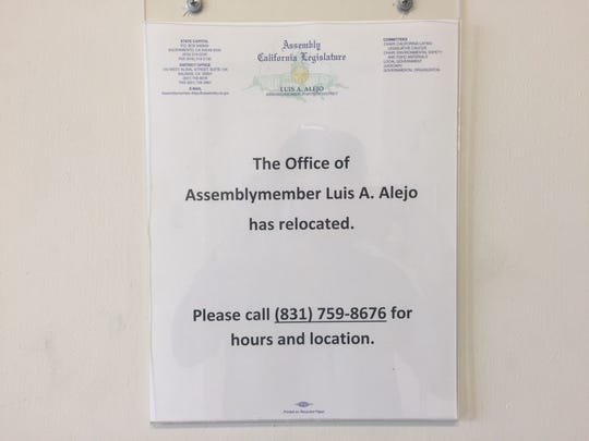 Assemblyman Luis Alejo moved his office a few months ago.