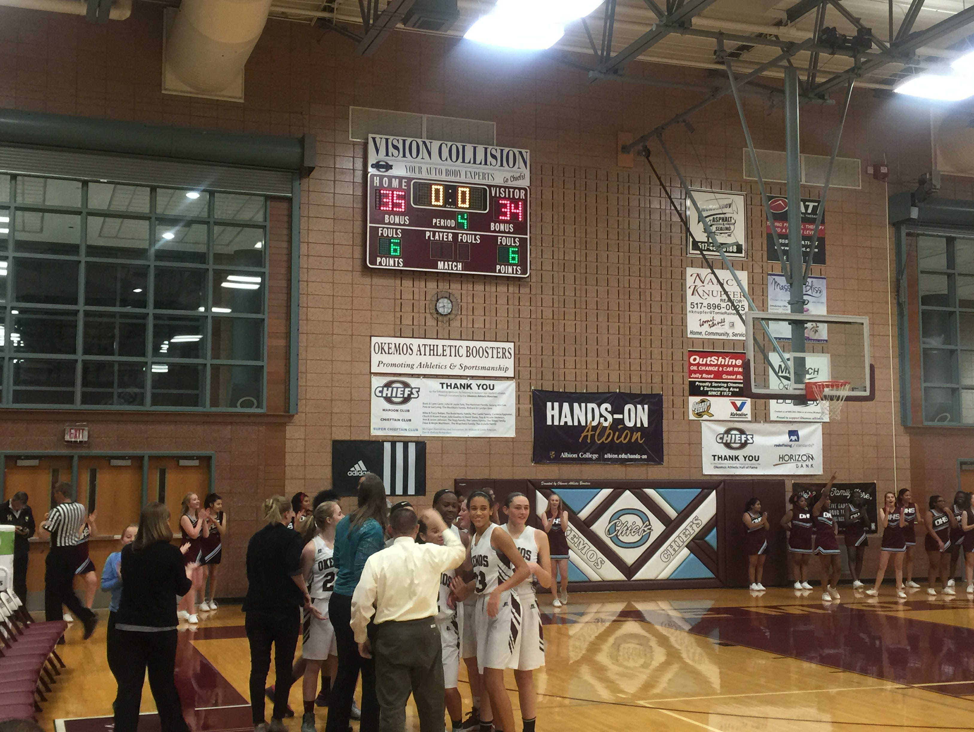 Okemos rallied back from a nine-point deficit in the fourth quarter to top Haslett Friday night.