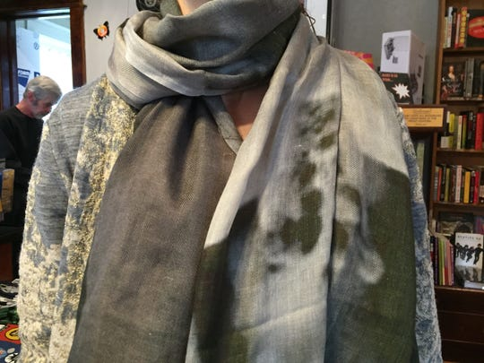 A photo scarf designed by Reno artist Sarah Stevenson available for about $85 online at http://shop.red-line-design.com/collections/new.