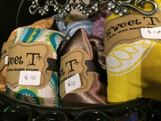 Sweet T is a brand by an 8-year-old Reno girl, Tallulah, who makes fragrant hot packs that can be wrapped around whatever sore muscles ail you for the moment. Small packs are $10 each.