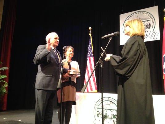 Joyner sworn in