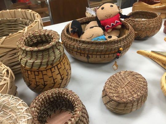 Crafts on display by Houma artists Douglas Fazio and