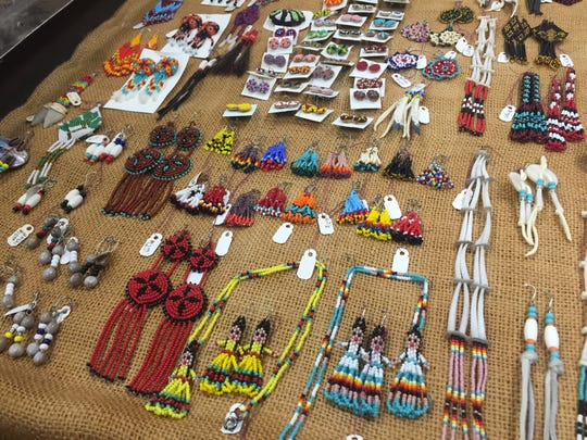 Jewelry by Choctaw artist Margo Rosas at the Native American Crafts day at Northwestern University