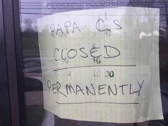 Papa C's Closed