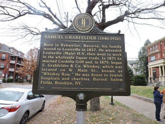 A Kentucky Historical Society state highway marker honors philanthropist and distiller Samuel Grabfelder (1846-1920), who lived at the home at 1442 S. 3rd St. in Old Louisville.