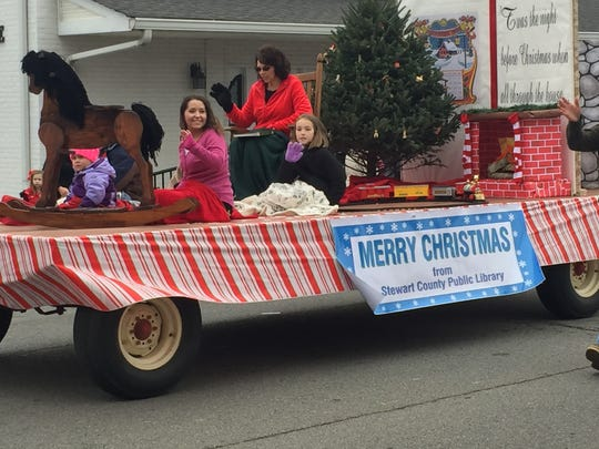 The Stewart County Public Library float featured a