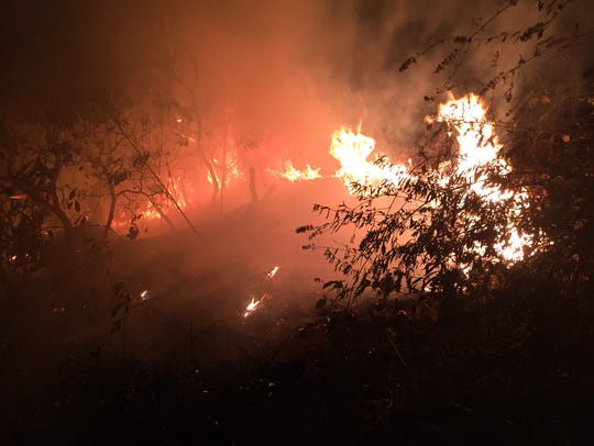 Firefighters from Black Mountain captured pictures