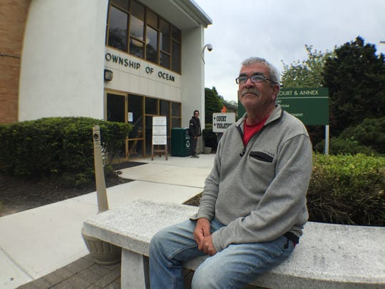 Dean Santos, a homeless man from Ocean County, has gotten caught up with multiple fines in the municipal court system.