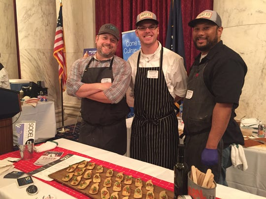 Staffers from SoDel Concepts have been offering food for several years at the Taste of Delaware party hosted by the Delaware Chamber of Commerce and Sen. Chris Coons.