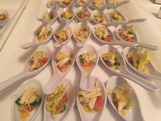 The University & Whist Club in Wilmington made crab salad with avocado for the Sixth Annual Taste of Delaware in Washington, D.C.