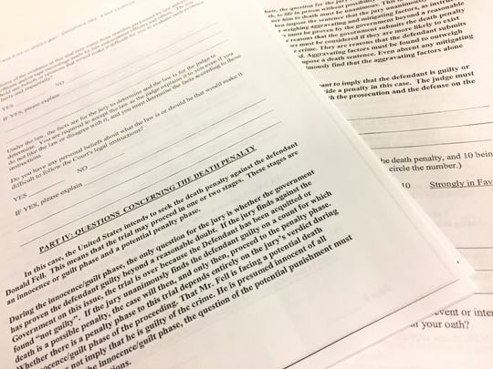 A proposed jury questionnaire for Vermonters in the Donald Fell trial includes 75 multiple-part questions in six categories.