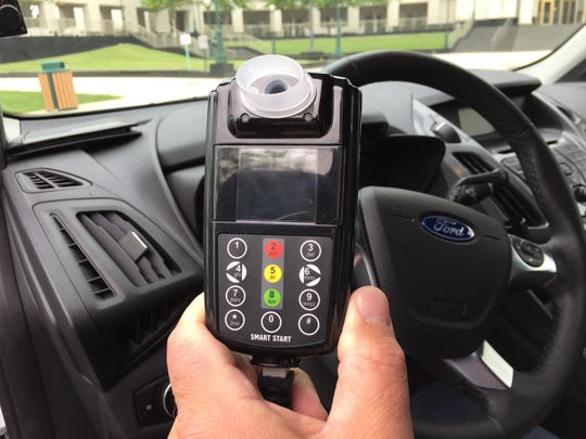 An ignition interlock requires the driver to pass a breathalyzer test before the vehicle will start.
