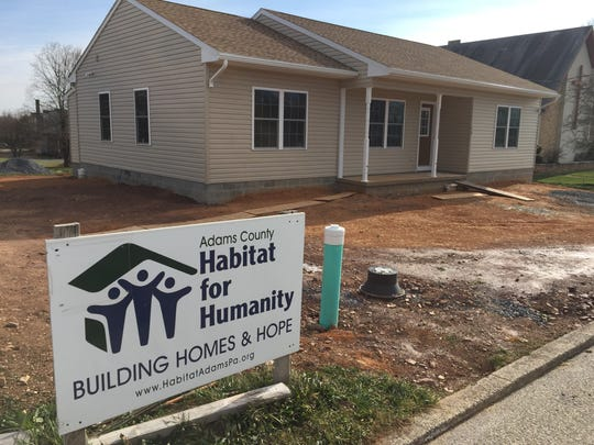The Adams County chapter of Habitat for Humanity is working on its 35th home for a couple employed at Hollabaugh Bros. in Biglerville.