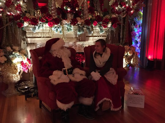 Graham Fallon, 30, of Endicott, and Laura Sacco, 24, of Binghamton were Santa and Mrs. Claus during Roberson Museum and Science Center's Home for the Holidays on Sunday.