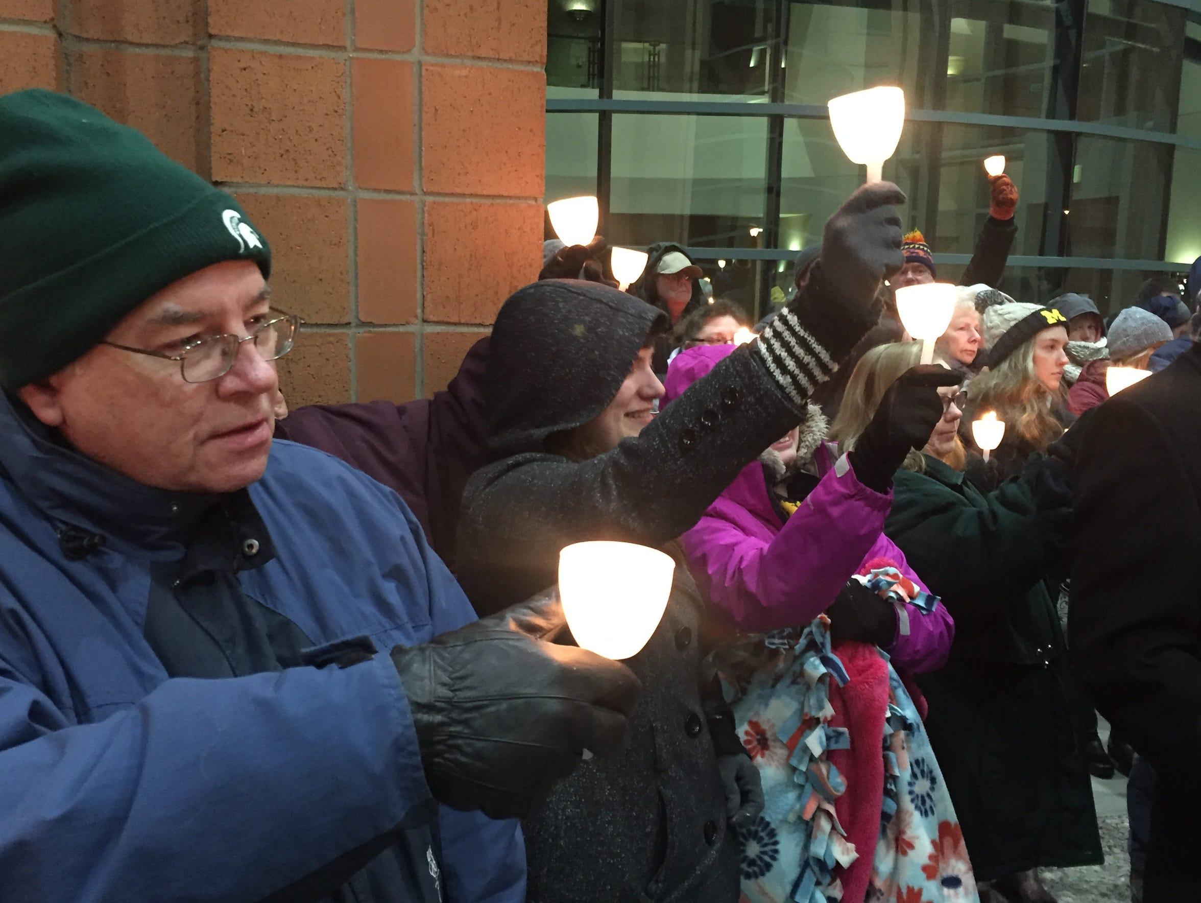 Lighting the way for Danielle Stislicki.