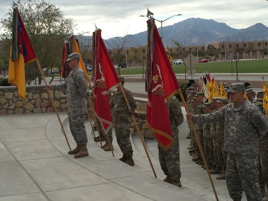 Soldiers from 2nd Brigade take part in a change of mission ceremony Dec. 8.