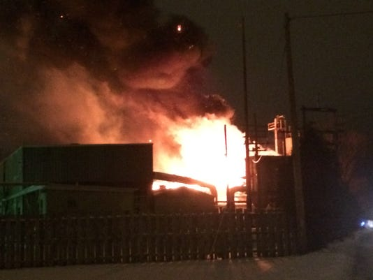 Foundry fire in Wisconsin Rapids