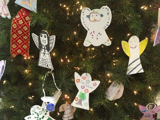 Lost and Found Grief Center's Angel tree is in the