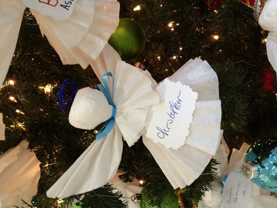 Katy Plowden made this angel ornament in memory of