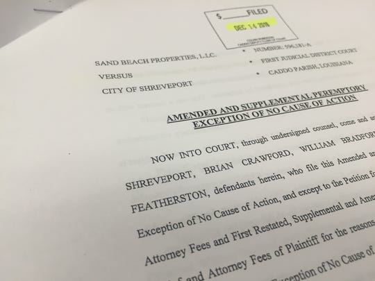 The City of Shreveport has submitted an amendment saying