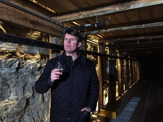 Maker's Mark COO Rob Samuels discusses the distillery's limestone whiskey cellar.