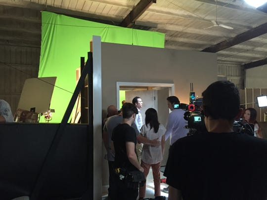 """Film shooting of the film """"Mom and Dad"""" in Louisville in 2016."""