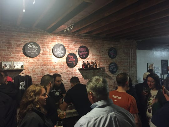 The tasting room of The North Brewery in Endicott,