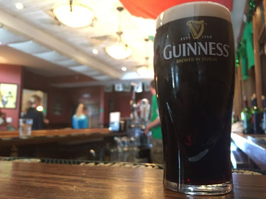 A perfect draft pour of Guinness at Mulconry's Irish