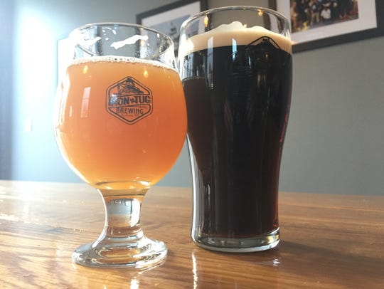 Iron Tug's New England Ale and Irish Stout.