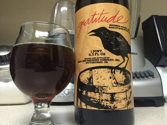 East End Brewing's Gratitude barleywine.