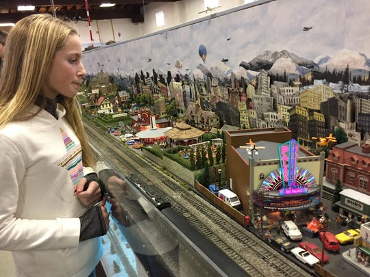 Julia Netzgar, 11, of Media, visited the 20th annual Model Train Show sponsored by the Cumberland Valley Model Railroad Club in Chambersburg