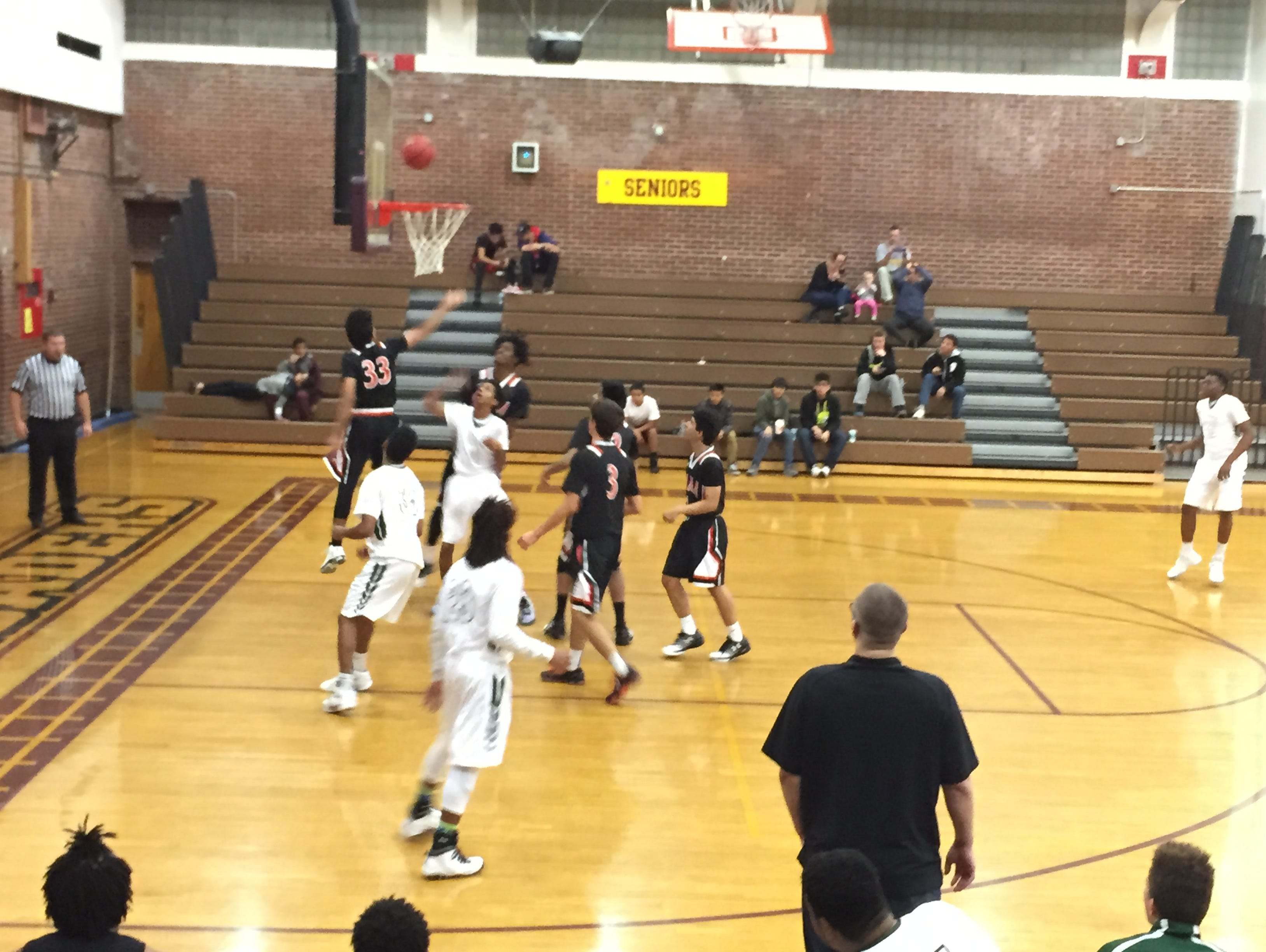 The Hug boys play Selma, Calif,., Monday night at Sparks High. Selma won, 68-45.