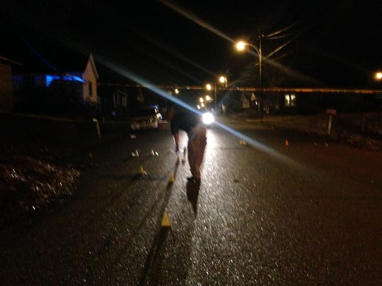 Investigators responded to a report of a shooting around 6:30 p.m. Christmas Day on the 500 block of Preston Street.