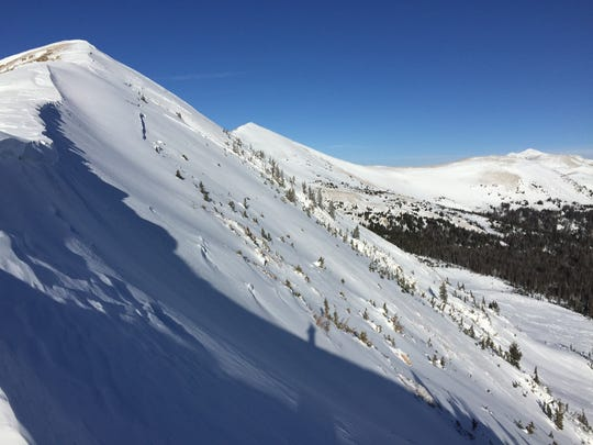 A skier died Sunday in an avalanche on Diamond Peak, shown here in this file photo.