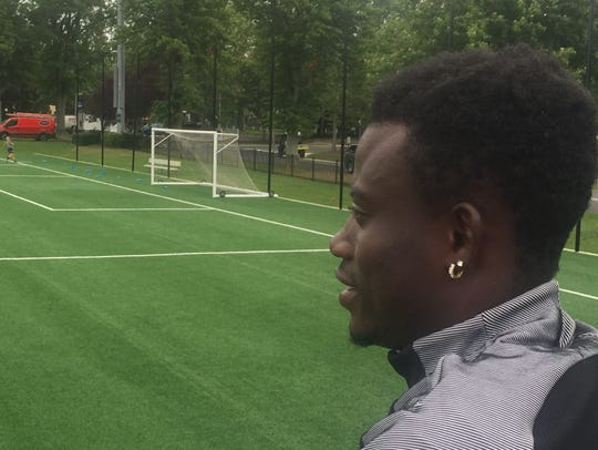 Monmouth University soccer player Anderson Asiedu was